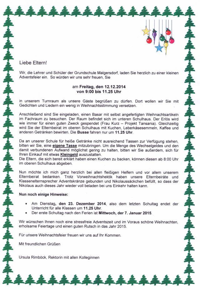 Elternbriefe | GS-Malgersdorf